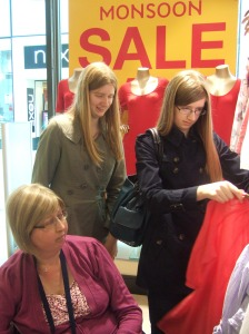 Girls at the Sales