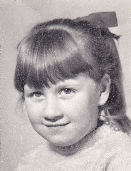 J as young girl