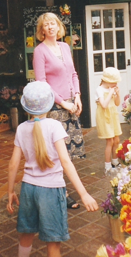 J gets her look - on hols in Jersey 2000