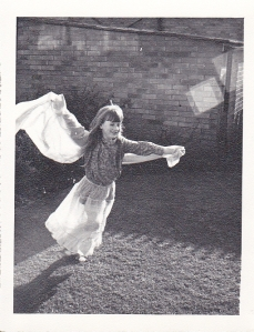 J as young girl princess fairy costume