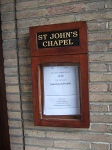 Chapel notice