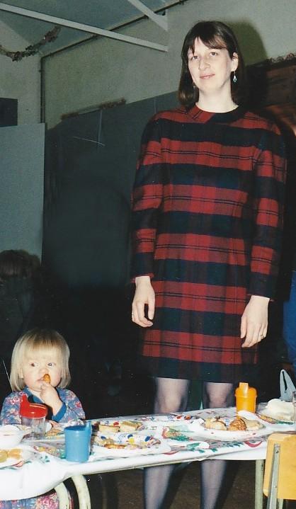 J and L at Xmas party 16 December 1993