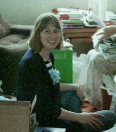 J opening wedding gifts, Aug 1988