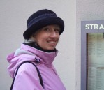 J on her 47th birthday, 2010, Leamington Spa