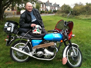 PRS and his Norton 750 Commando