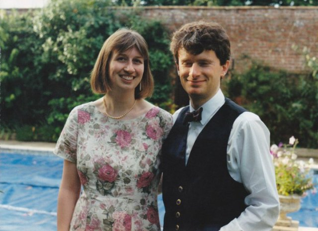 S and J at Rob's wedding 28 Aug 1993