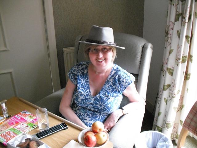 J in hat at KHH, 30 June 2011