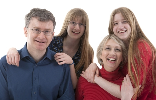 Family studio portrait 9 January 2010