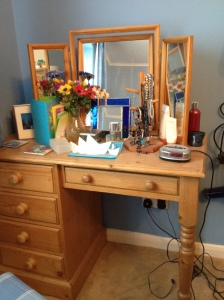 J's dressing table