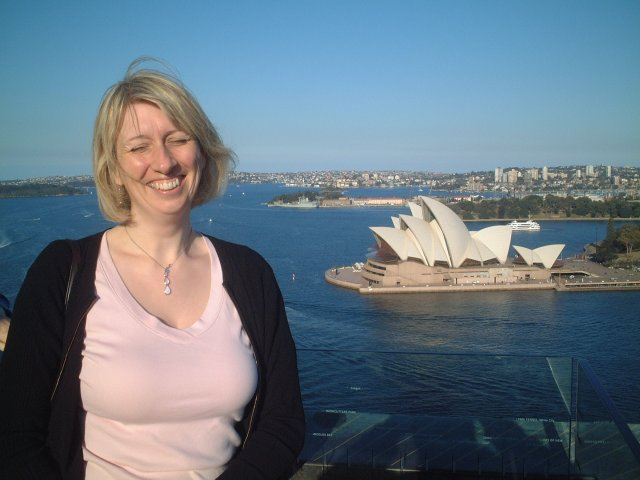 Juliet and the Sydney Opera House, 25 August 2005