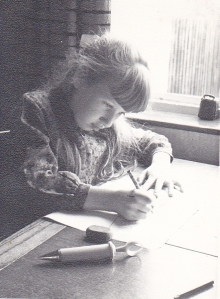 J as a young artist