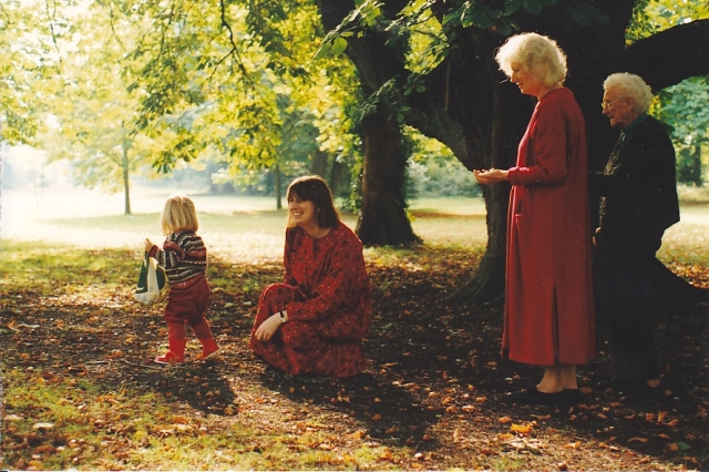 Four generations at Headington Hill Park Oct 1994